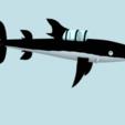 Download free STL files tintin submarine shark V2, MisterDiD