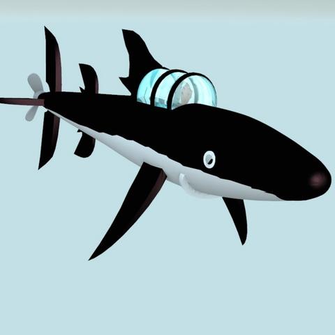 Télécharger fichier STL gratuit tintin submarine requin V2, MisterDiD