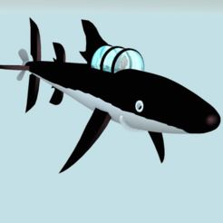 Download free STL files tintin submarine shark V2, MisterDiD