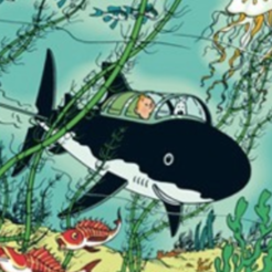 Download free STL files tintin submarine shark, MisterDiD