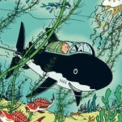 Modelos 3D gratis tiburón submarino tintin, MisterDiD