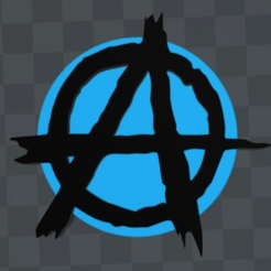 Download free 3D model Anarchy symbol magnet, MisterDiD