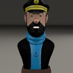 Free Captain Haddock 3D model, MisterDiD