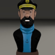 Free 3D print files Captain Haddock, MisterDiD