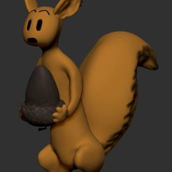 spip00.JPG Download free STL file SPIP, the Spirou squirrel companion • 3D printing model, MisterDiD