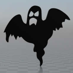 Free Ghost Halloween magnet 3D printer file, MisterDiD