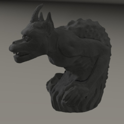 Free STL gargoyle inspired by Cathedral Notre Dame from Paris, MisterDiD