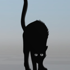 Free 3D model Black cat 3, MisterDiD