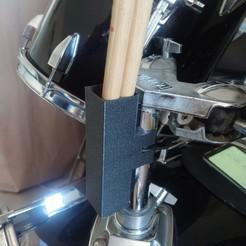 support batterie droite.jpg Download STL file drumstick holder • 3D printing template, ErwinVa