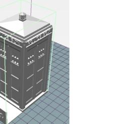 dr who.png Download STL file card holder dr who tardis • 3D printer template, ErwinVa