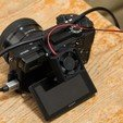 Download 3D printer templates Cooling fan attachment for Sony Alpha 6300 digital camera, jasso