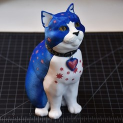 3D printing model Schrodinky: British Shorthair Cat in a Box – 3D Printable, Multi Part Model - MULTI EXTRUSION PACKAGE, steve220