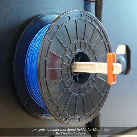 Capture d'écran 2017-05-09 à 09.46.27.png Download free STL file Universal Cantilevered Spool Holder for 3D printers • 3D printing design, CreativeTools