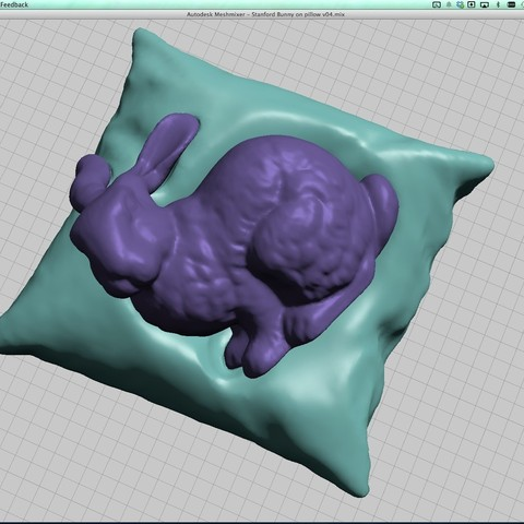06-Stanford_bunny_resting_on_a_pillow.jpg Download free STL file Stanford bunny resting on a pillow • Template to 3D print, CreativeTools