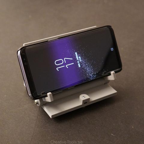 Free 3D printer files Smartphone Desktop Stand (adjustable angle), CreativeTools