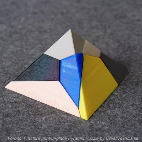 Télécharger modèle 3D gratuit Voronoi Fracture Print-in-Place Pyramid Puzzle, CreativeTools