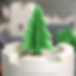 Free STL files Simple 3D-printable Pine tree, CreativeTools