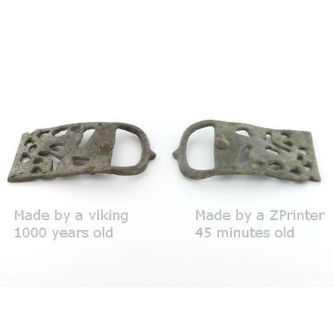 Free 3D printer file 1000-year-old Viking belt buckle, CreativeTools