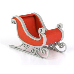Download free 3D printer designs Santa's sleigh, CreativeTools