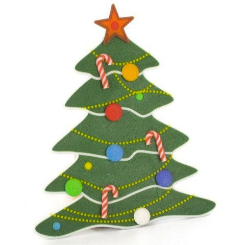 1.jpg Download free STL file Flat decorative Christmas tree • 3D printable model, CreativeTools