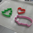 Free 3d printer files Pig, heart and Christmas tree-shaped cookie-cutters, CreativeTools