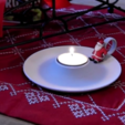 Download free 3D printing templates Candle holder with Santa, CreativeTools