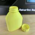 Free 3D printable bottle and screw cap STL file, CreativeTools