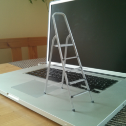 Free 3D model 3D-printable scale model of a ladder, CreativeTools