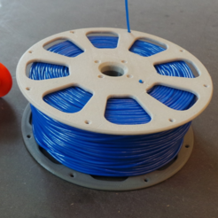 Download free STL file 3D-printable split filament spool with threaded joint (135 mm), CreativeTools