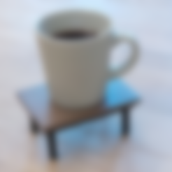 3D-printable_coffee_table__coaster___assembled_.stl Download free STL file 3D-printable coffee table (coaster) • 3D printer template, CreativeTools