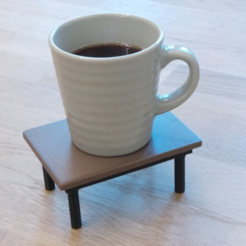 Free 3D-printable coffee table (coaster) STL file, CreativeTools