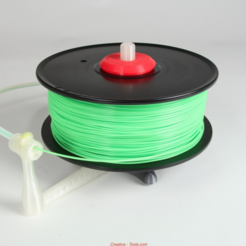 Download free STL file Universal stand-alone filament spool holder (Fully 3D-printable) • 3D printable design, CreativeTools