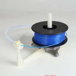 Free 3D printer file Universal stand-alone filament spool holder (Fully 3D-printable), CreativeTools