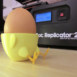 Free 3D printer file Standing-Sitting Chick Egg Cup (smooth surface), CreativeTools