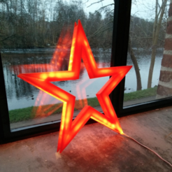 Free 3D printer files Vega - The LED-lit Christmas Star, CreativeTools