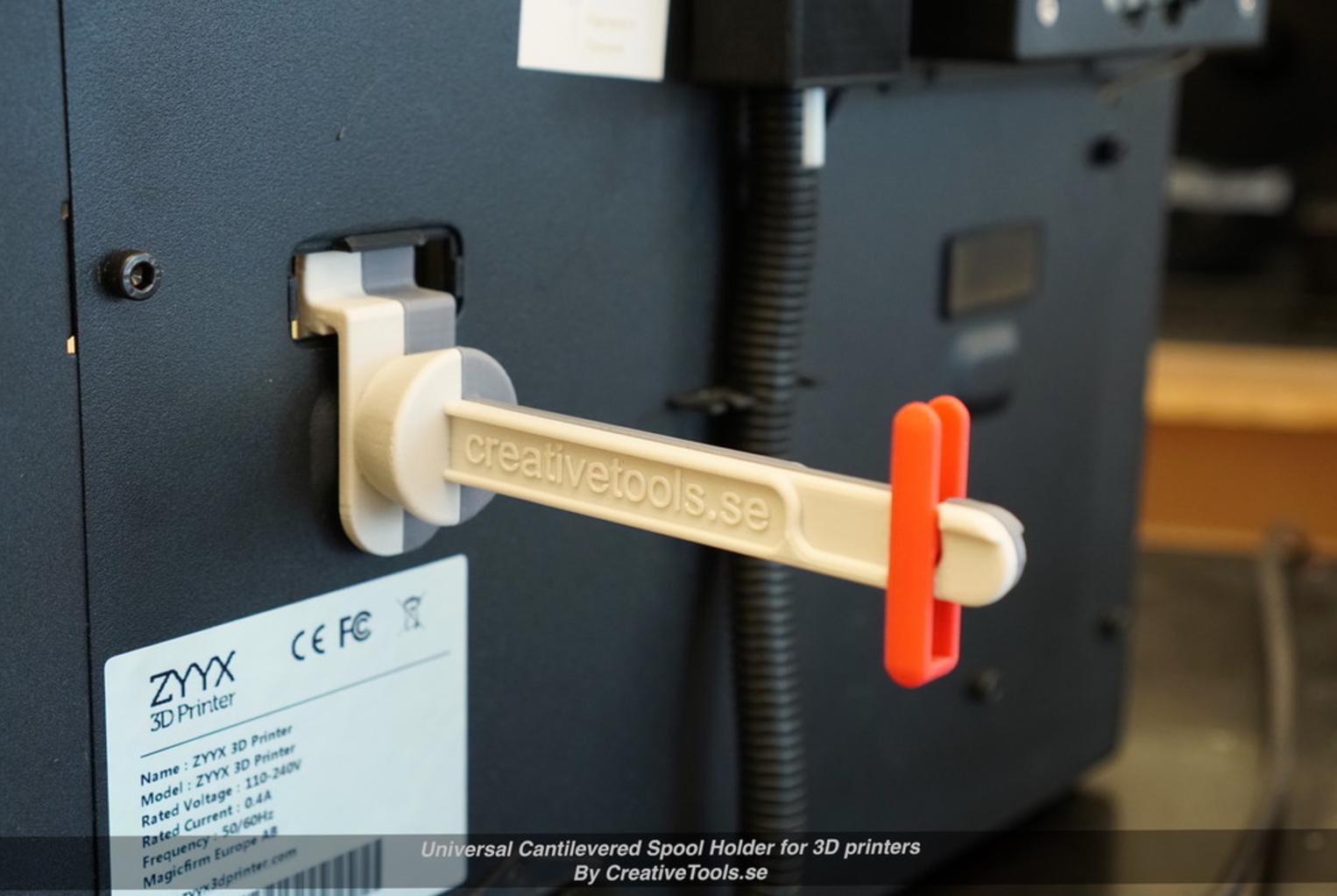 Capture d'écran 2017-05-09 à 09.44.42.png Download free STL file Universal Cantilevered Spool Holder for 3D printers • 3D printing design, CreativeTools