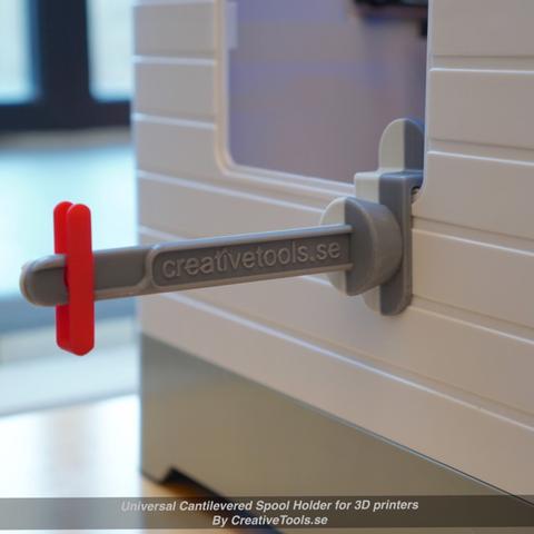 Capture d'écran 2017-05-09 à 09.44.47.png Download free STL file Universal Cantilevered Spool Holder for 3D printers • 3D printing design, CreativeTools
