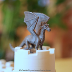 Free The Dragon for 3D-printable Modular Castle Playset 3D model, CreativeTools