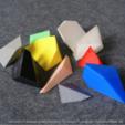 Free STL files Voronoi Fracture Print-in-Place Pyramid Puzzle, CreativeTools