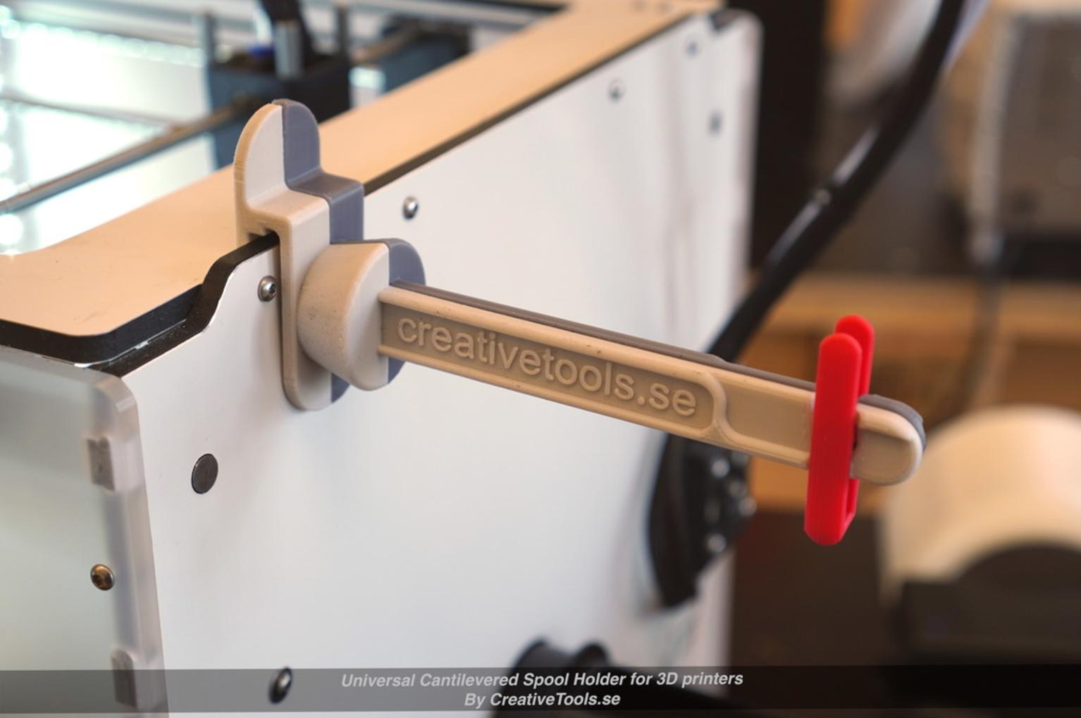 Capture d'écran 2017-05-09 à 09.44.52.png Download free STL file Universal Cantilevered Spool Holder for 3D printers • 3D printing design, CreativeTools