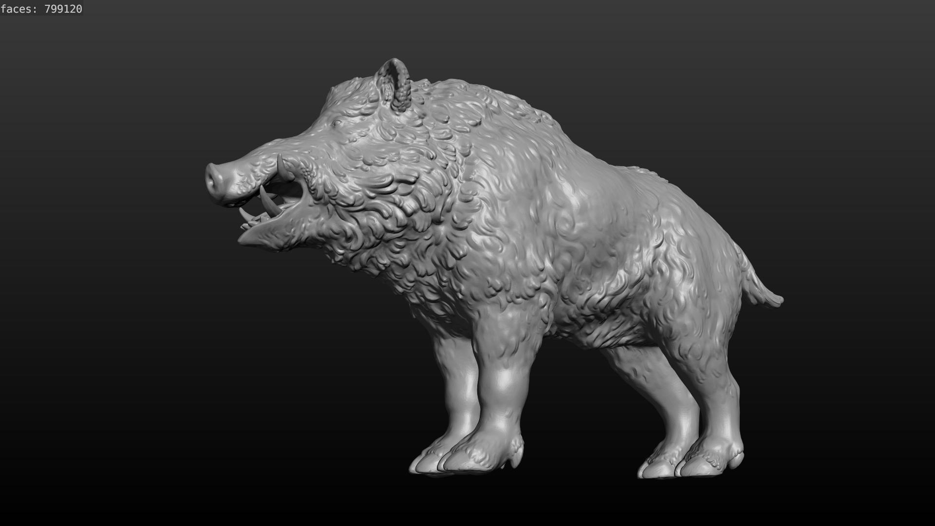 boar-14.png Download STL file Boar • 3D printable design, Skazok