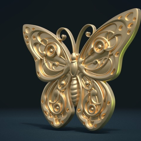 Butterfly_G_Cycles-0003.jpg Download STL file Butterfly relief • Model to 3D print, Skazok
