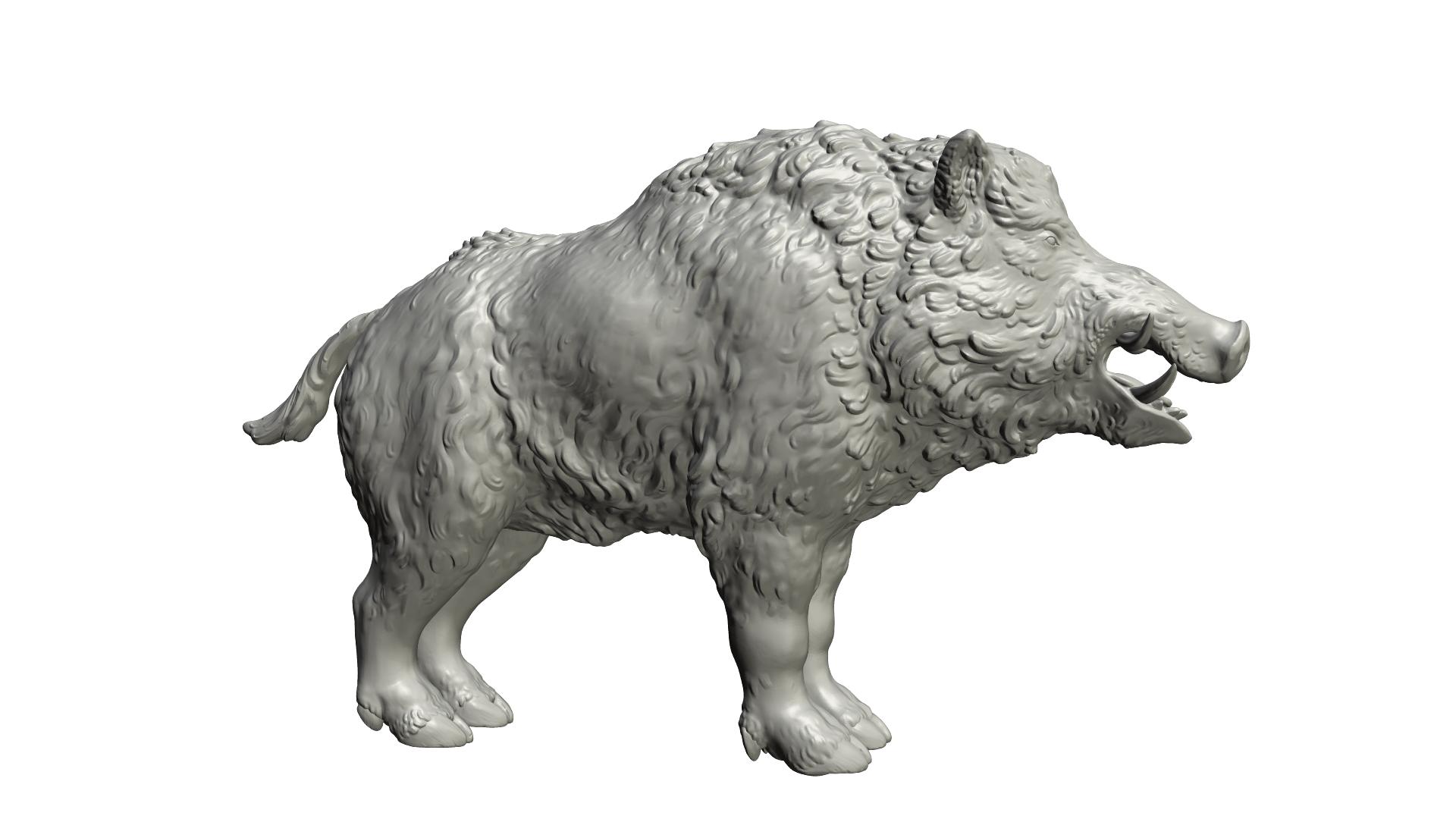 signature.png Download STL file Boar • 3D printable design, Skazok