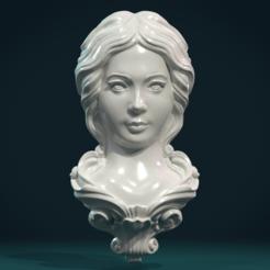 Télécharger fichier impression 3D Mascaron pour le visage féminin, Skazok