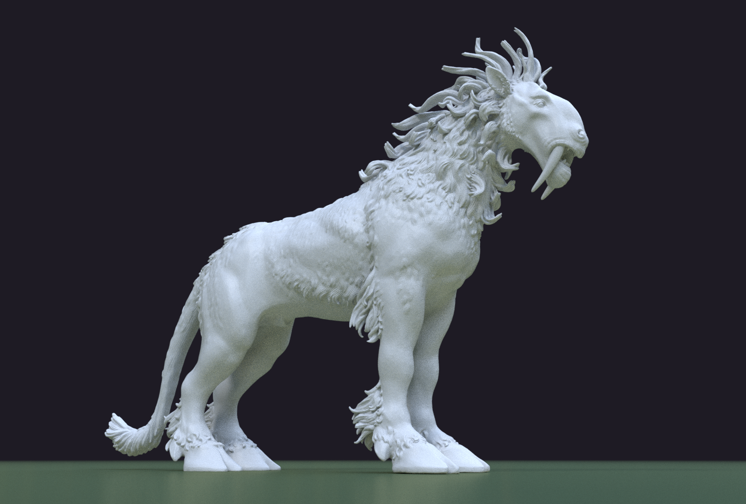 Fantasdy_beast-0002.png Download 3DS file Fantasy Beast • 3D printable template, Skazok