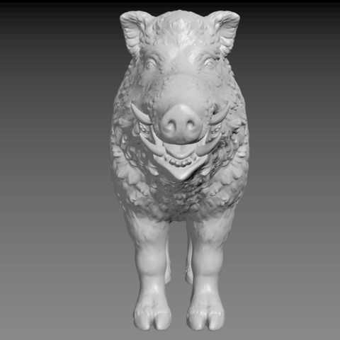boar-06.png Download STL file Boar • 3D printable design, Skazok