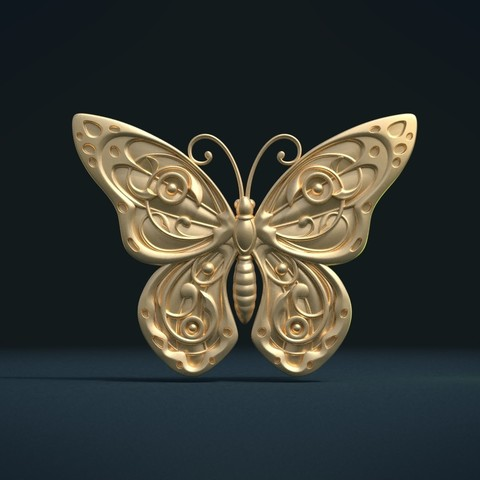 Butterfly_G_Cycles-0004.jpg Download STL file Butterfly relief • Model to 3D print, Skazok
