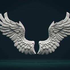 Download 3D printing designs Wings Relief II, Skazok