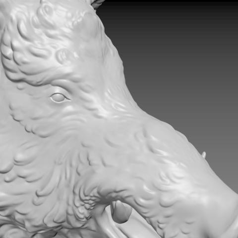 boar-12.png Download STL file Boar • 3D printable design, Skazok