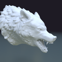 3D printer files Wolf Head II, Skazok